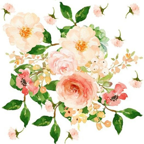 "10.5"" Floral Peach Delight - Large Print"