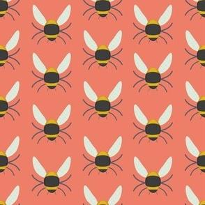 Geometric Bees - Pink