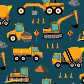 Construction: Roadworks Scatter - Navy