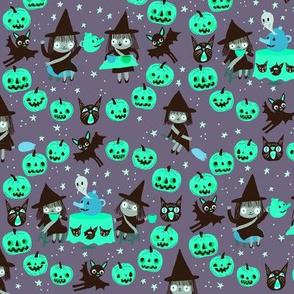 witch fabric purple