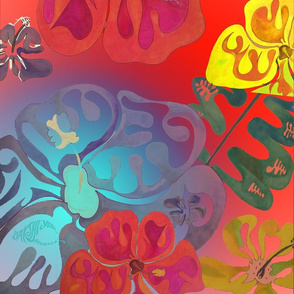 Hibiscus Fields Bright
