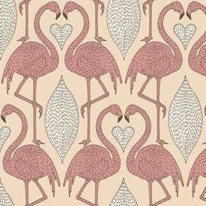 Dashed Flamingo and Heart