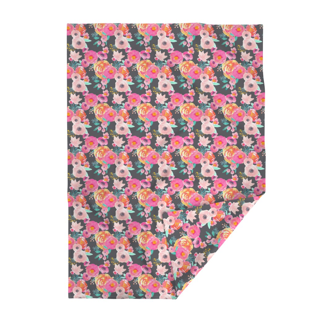 Lakenvelder Throw Blanket featuring INDY BLOOM BLUSH GREY A by indybloomdesign