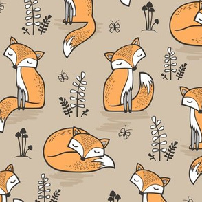 Dreamy Fox in Frosted Almond