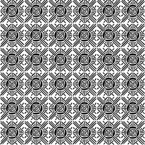 Square Geometric Pattern - Hand Painted Design