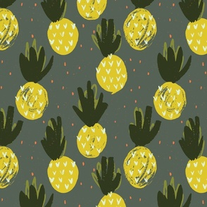 Pineapples Dark Small by Friztin