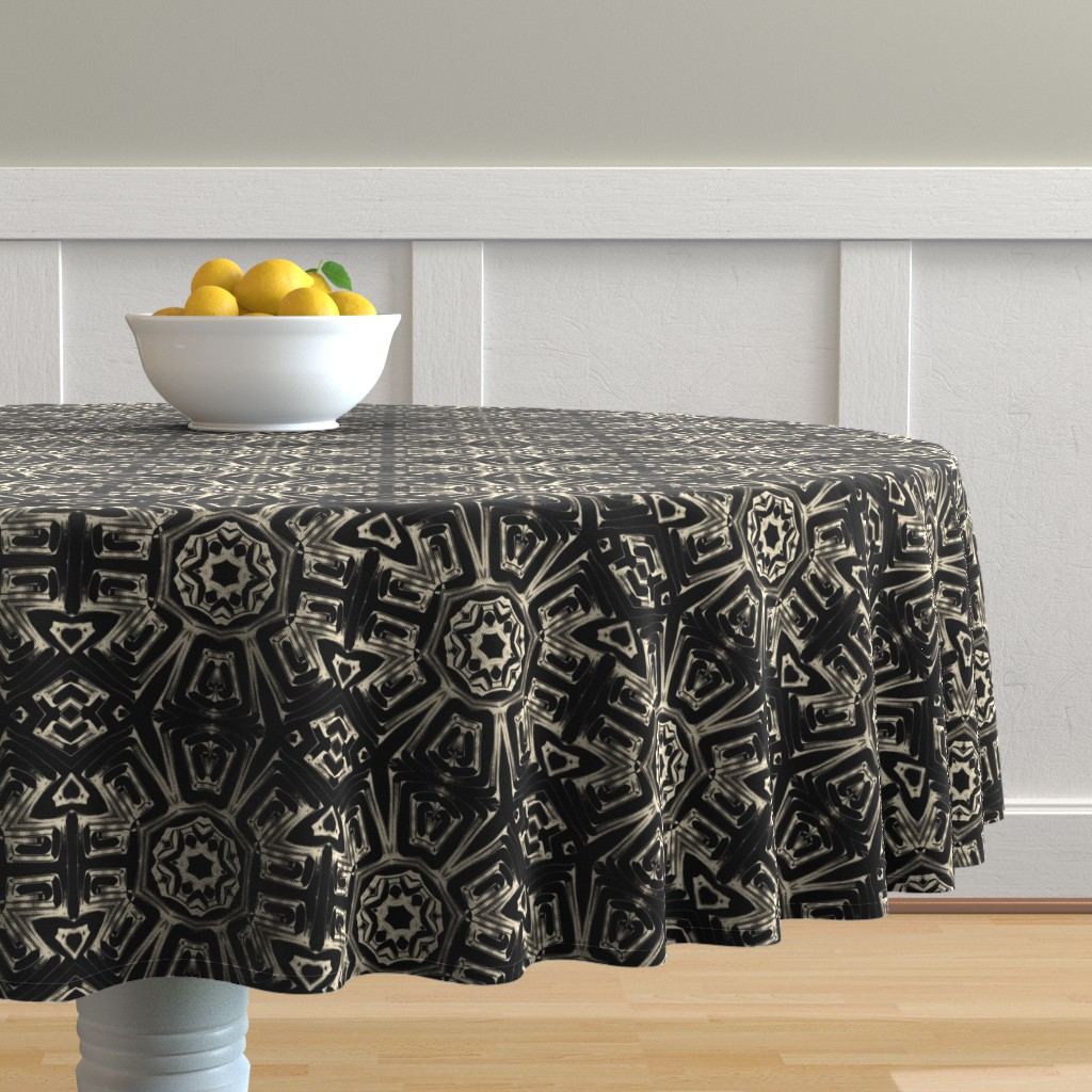 Malay Round Tablecloth featuring Fitzgerald Manse by alicefrenz
