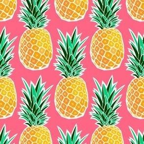 Tropical Geometric Pineapple - Pink