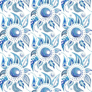 Blue Paisley Sun
