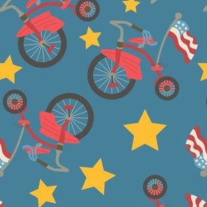 Vintage 4th of July Tricycle