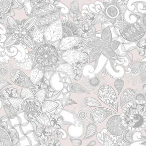 Zen Doodle flowers_Light