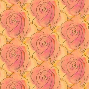 A Stack of Roses - Coral