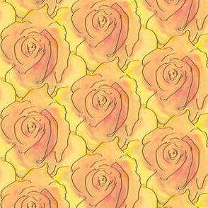 A Stack of Roses - Peach