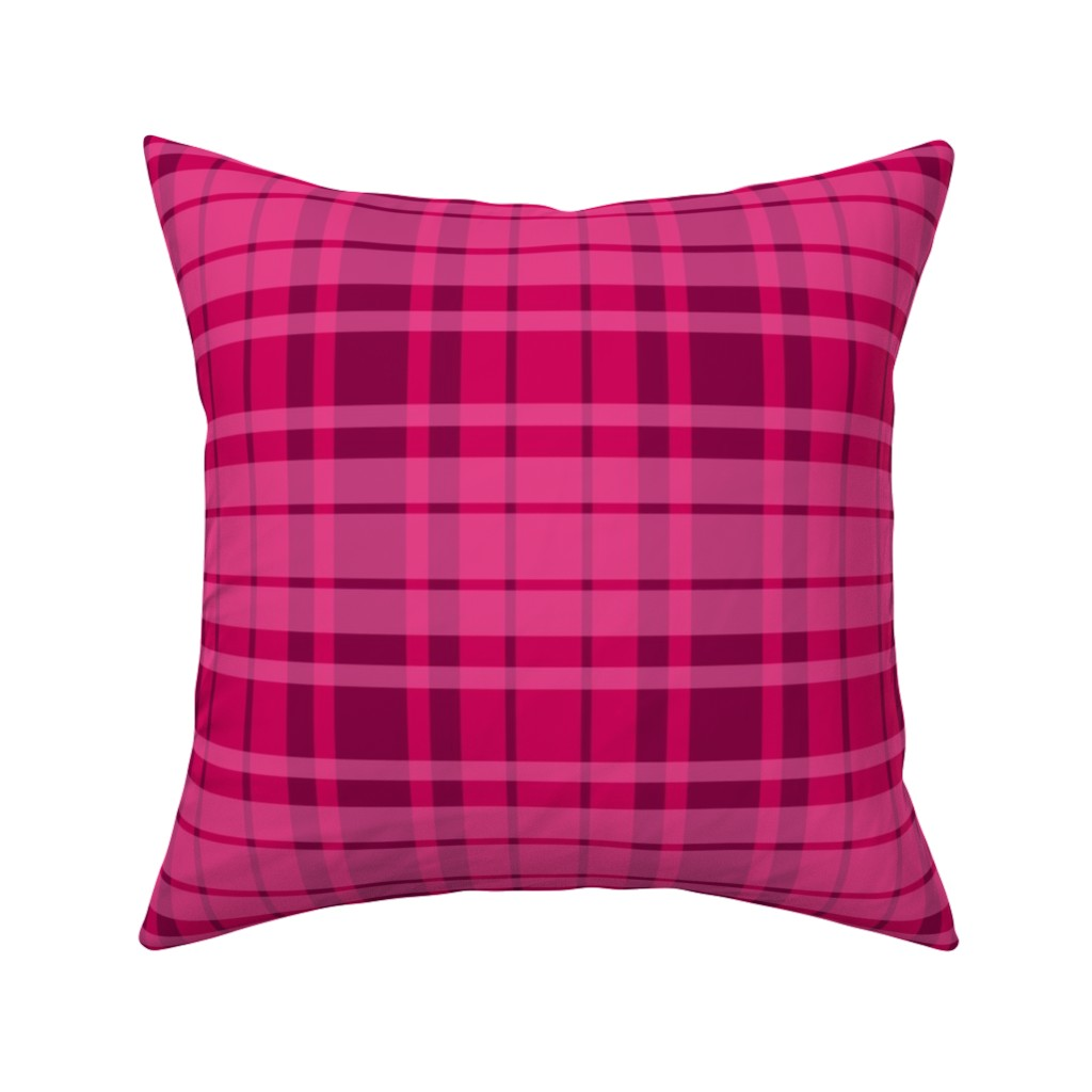 Catalan Throw Pillow featuring UMBELAS PLAID 3 by umbelas