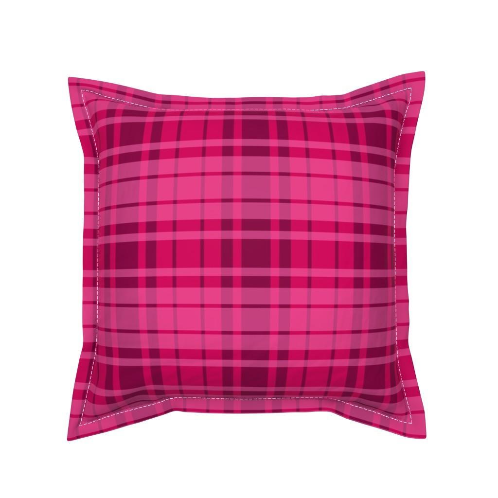 Serama Throw Pillow featuring UMBELAS PLAID 3 by umbelas