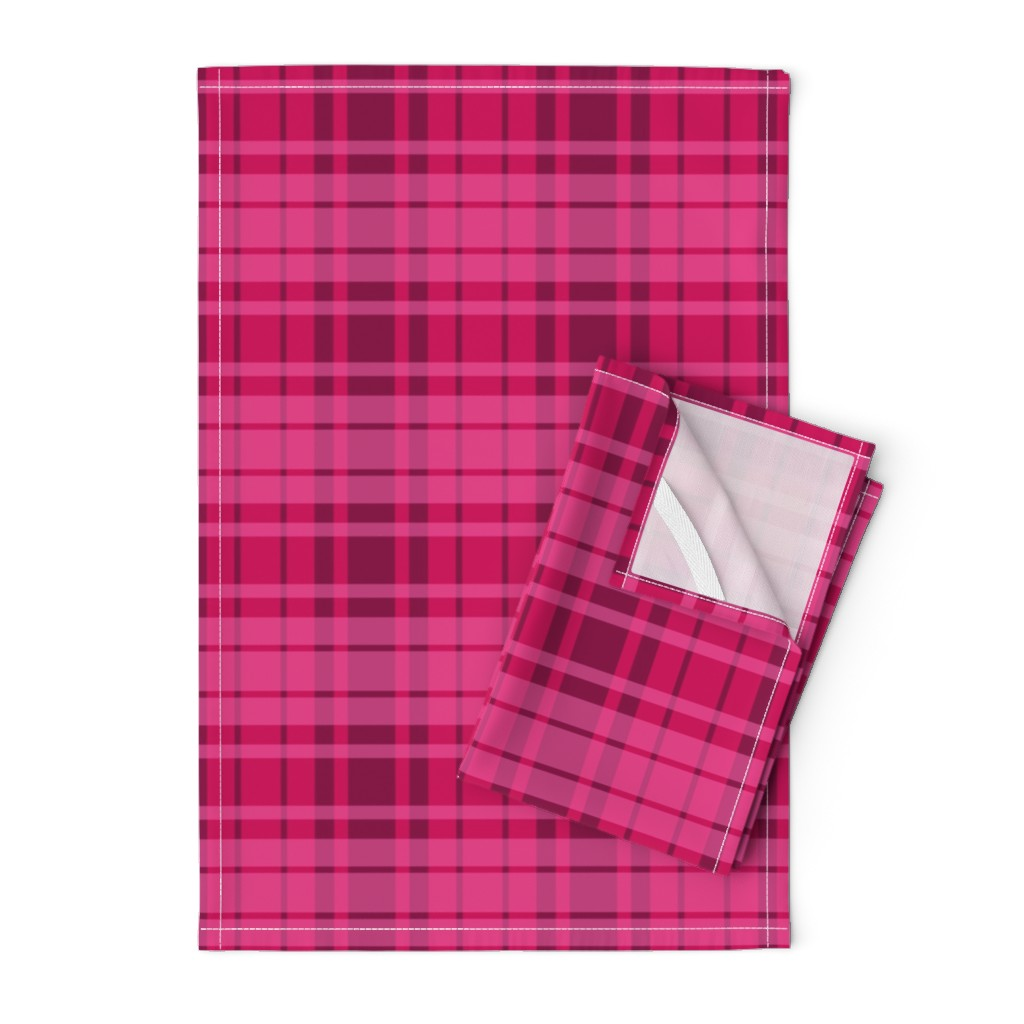 Orpington Tea Towels featuring UMBELAS PLAID 3 by umbelas