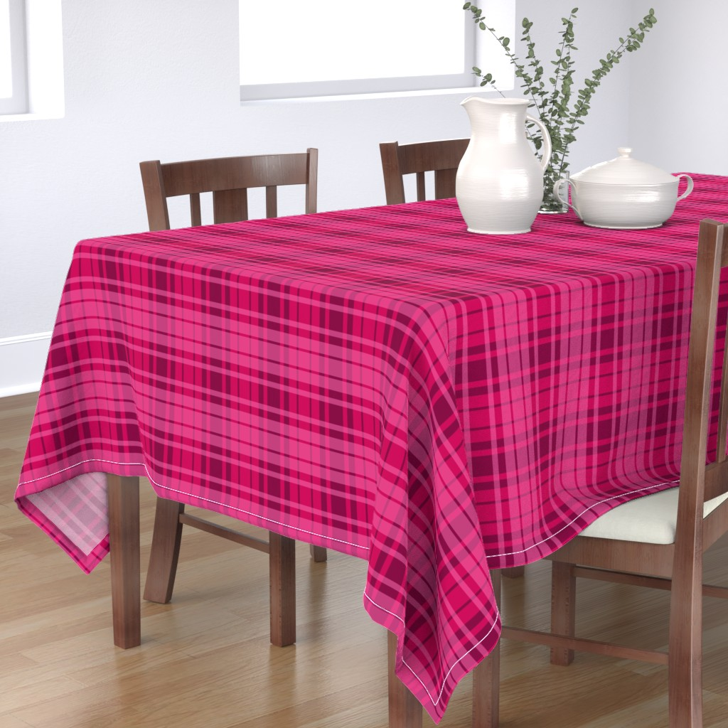 Bantam Rectangular Tablecloth featuring UMBELAS PLAID 3 by umbelas