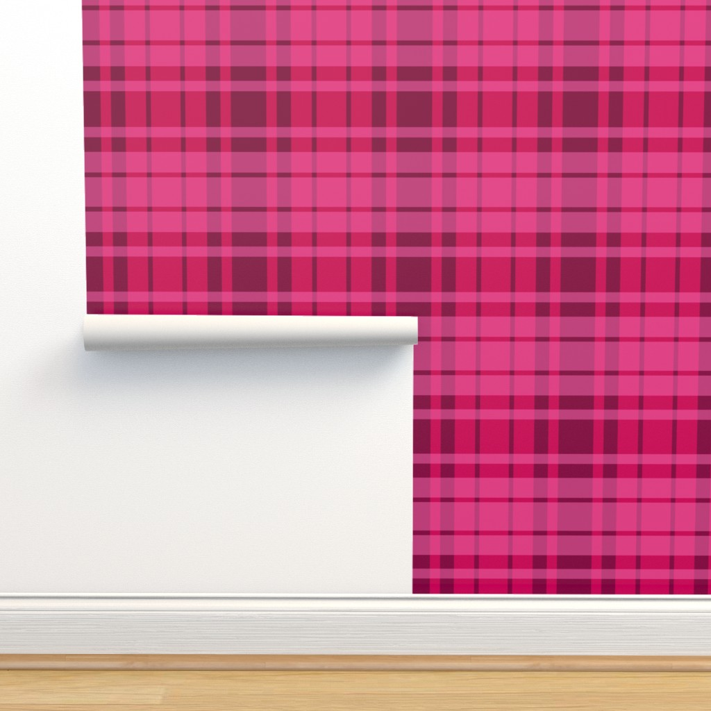 Isobar Durable Wallpaper featuring UMBELAS PLAID 3 by umbelas