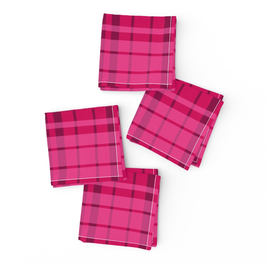 Frizzle Cocktail Napkins featuring UMBELAS PLAID 3 by umbelas
