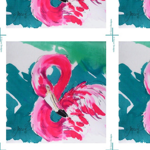 Fabulous Flamingo Pillow Panel