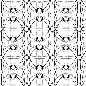 Robin Pattern 2 (Black & White)
