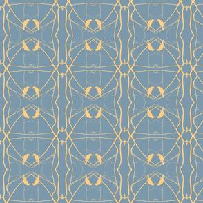 Robin Pattern 2 (Slate & Yellow)