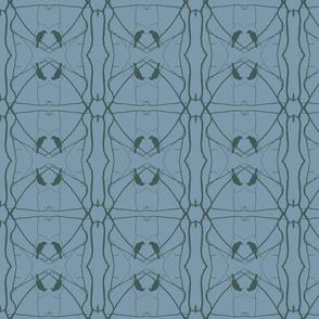 Robin Pattern 2 (Slate & Green)