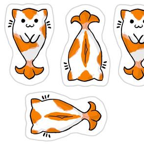 Kitty Koi Pillow