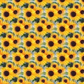 Bright Yellow Sunflower Fabric