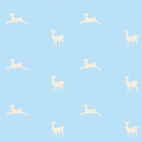 Deer 2 - sky cream