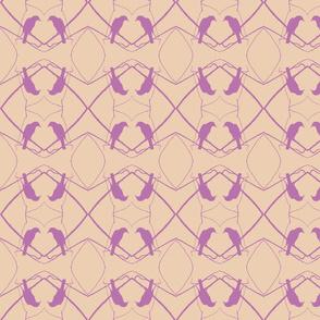 Robin Pattern 1 (Beige & Plum)