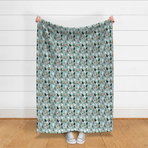 Cats And Donuts Mint Pink  by petfriendly Sweet Donuts Cotton Sateen Sheet Set Bedding by Spoonflower Cats Sheets