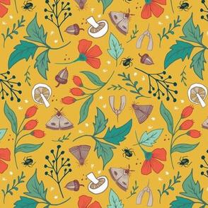 Gathered Autumn on Mustard