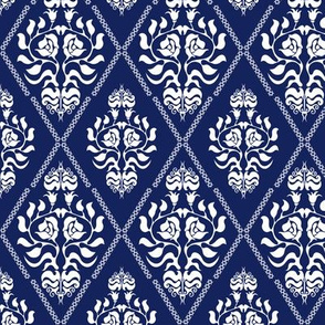 Damask pattern with Gothic and Victorian motifs