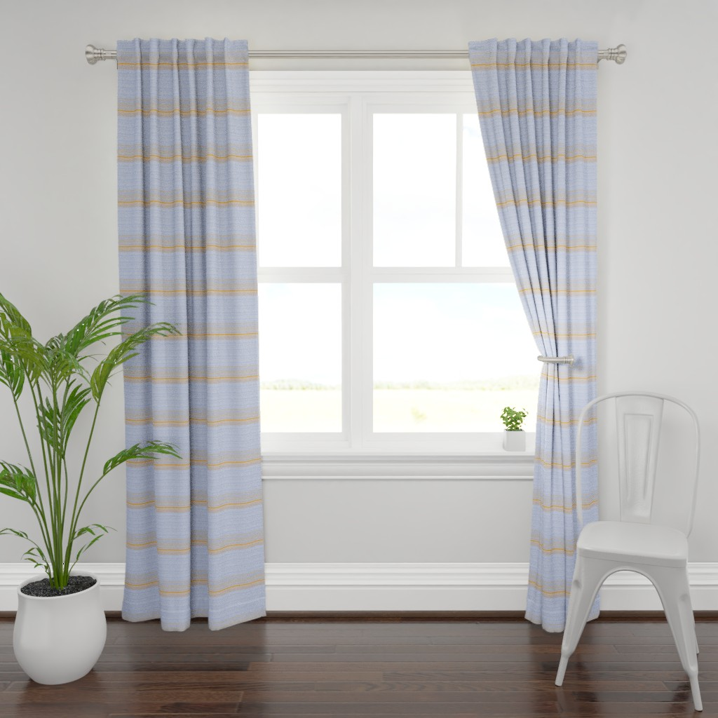 Plymouth Curtain Panel featuring Sun Sea and Sand Abstract by flutterbi
