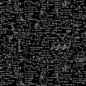 Physics Equations on Black // Small