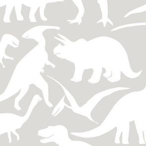 big dinos - white grey