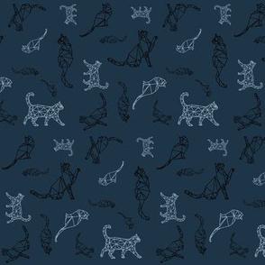 Cat Constellations (navy blue variant)