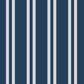 Blue and Silver Vertical