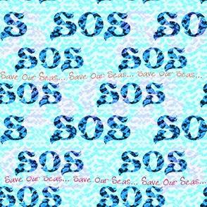 'Save Our Seas ~ S.O.S.' Aquatic Message