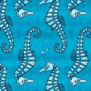 Seahorses in the Ocean