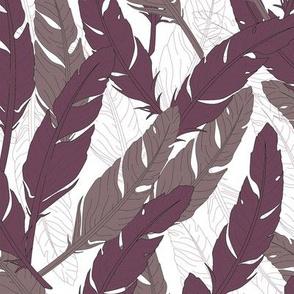 feathers Purple