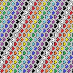Pixel Heart Spectrum (vertical)