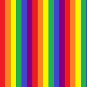 Rainbow Pride Stripes 1/2 inch (vertical)