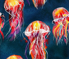 lion's mane jellyfish of ocean
