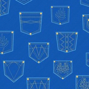 Jeans pockets seamless pattern
