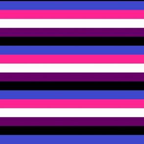 Genderfluid Pride Stripes