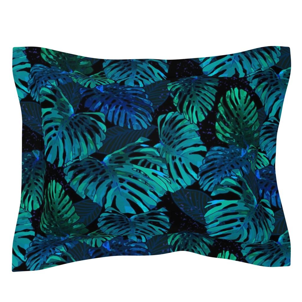 Sebright Pillow Sham featuring Monstera Jungle Hula Moon 300 by kadyson