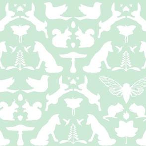 woodland damask mint