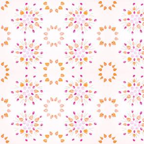 Periwinkle & Peach Pits (Magenta & Orange)